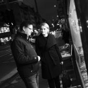 Foto: Thorsten Schäfer-Gümbel und JOURNAL FRANKFURT-Chefredakteurin Ronja Merkel (© Dirk Ostermeier)