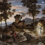 Foto: Joseph Anton Koch ((1768-1839) Landschaft mit dem Propheten Bileam und seiner Eselin, ca. 1832. @ Städel Museum