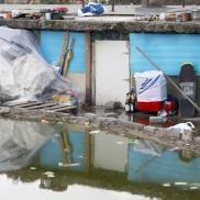 Foto: Ehemalige Unterkünfte von Roma auf der Industriebrache im Gallus © Bernd Kammerer