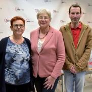 Foto: Das neue ehrenamtliche Präsidium der Frankfurter AWO: Barbara Dembowski, Petra Rossbrey und Hauke Hummel © Bernd Kammerer