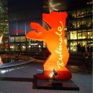 Foto: Der Berlinale-Bär im Sony-Center am Potsdamer Platz
