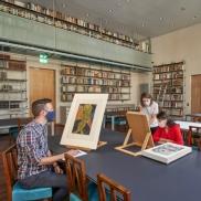 Foto: Neuer Studiensaal der Graphischen Sammlung,© Städel Museum – Norbert Miguletz
