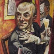 Foto: Städel Museum, Max Beckmann (1884–1950) Selbstbildnis mit Sektglas, 1919, © VG Bild-Kunst