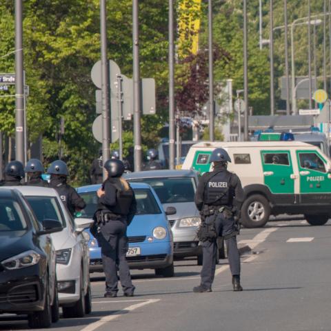 Polizeieinsatz in Fechenheim