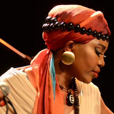 Yvonne Mwale im Liebieghaus