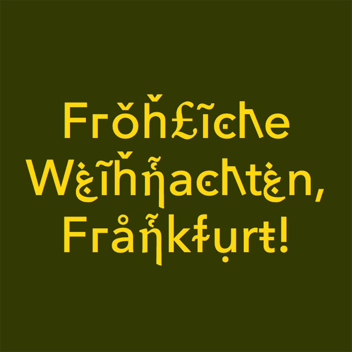 Weihnachtsgrüße Büro.Journal Frankfurt Nachrichten Die Multi Kulti Typo Weihnachtsgrüße
