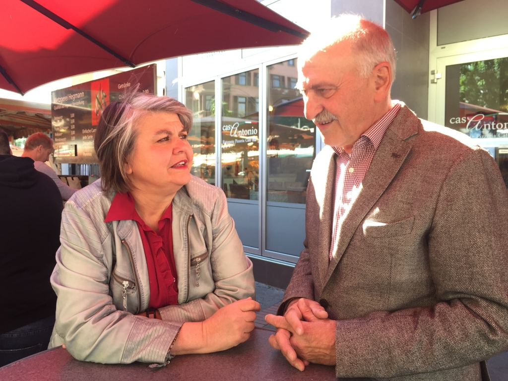 Foto: Margit Martin-Marx und Franz Steul © Gewerbeverein Bornheim-Mitte e.V.