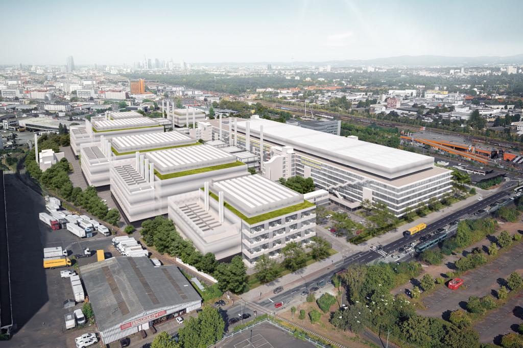 Foto: So soll das Gelände im Frankfurter Osten 2030 aussehen. © Interxion GmbH