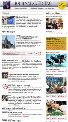 Beispiel  Journal - Der Tag  eMags. Hier Klicken...